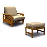 Elite Products Montego  Jr. Twin Chair; Walnut