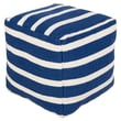 Surya Sophisticated Pouf Ottoman; Atlantic Blue