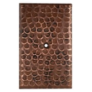 Premier Copper Products Blank Hand Hammered Copper Switch Plate Cover