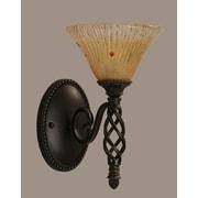 Toltec Lighting Elegante 1 Light Wall Sconce; Amber Crystal