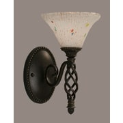 Toltec Lighting Elegante 1 Light Wall Sconce; Frosted Crystal