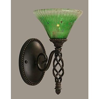 Toltec Lighting Elegante 1 Light Wall Sconce; Kiwi Green Crystal
