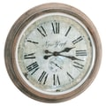 Barreveld 28'' Metal / Glass New York Clock