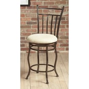 Largo Eliza Swivel Bar Stool with Cushion; 24''