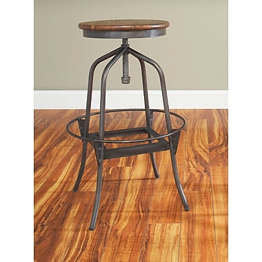 Largo Abbey Adjustable Height Swivel Bar Stool; 30''