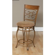 Largo Ellen Swivel Bar Stool with Cushion; 24''