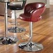 Standard Furniture Cosmo 25'' Adjustable Bar Stool ; Red