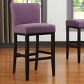 Handy Living Oslo 29'' Bar Stool ; Purple Linen
