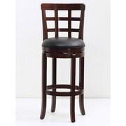 Mochi Furniture Longmont 29'' Swivel Bar Stool with Cushion; Cappuccino