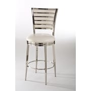 Hillsdale Rouen 26'' Swivel Bar Stool with Cushion; Ivory