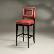 Pastel Furniture Hajime 26'' Bar Stool with Cushion; Red