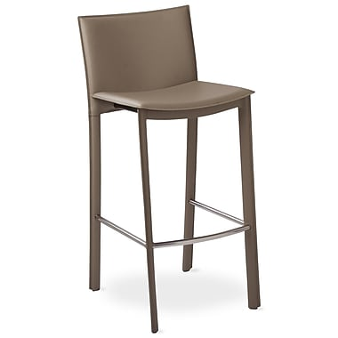 TFG Elston 30'' Bar Stool with Cusion; Gray