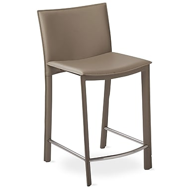 TFG Elston 24'' Bar Stool with Cusion; Gray