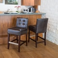 Home Loft Concept Exclusives Brinkley Bar Stool (Set of 2); Brown