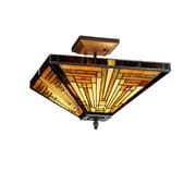 Chloe Lighting Mission 2 Light Innes Semi Flush Mount