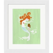 Evive Designs Mermaid and Baby Girl Framed Art
