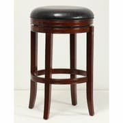 Mochi Furniture Sumas 29'' Swivel Bar Stool with Cushion; Brown Cherry