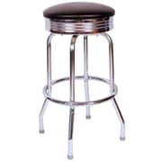 Richardson Seating Retro Home 30'' Swivel Bar Stool with Cushion; Black