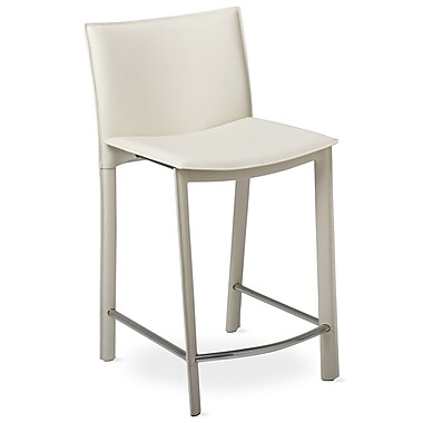 TFG Elston 24'' Bar Stool with Cusion; Ivory
