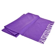 Creswick All-Natural Cashmere / Lambswool Fringed Throw; Plum
