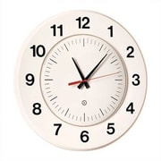Peter Pepper 14'' Wall Clock; Soft White / Black