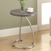 Monarch Specialties Inc. End Table; Dark Taupe