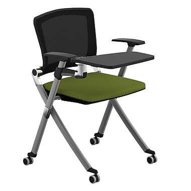 Compel Office Furniture Ziggy Mesh Nesting Chair with Tablet Tray; Green