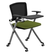 Compel Office Furniture Ziggy 19.25in Mesh Tablet Arm Chair; Green