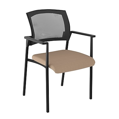 Compel Office Furniture Speedy Mesh Stacking Chair; Chalk