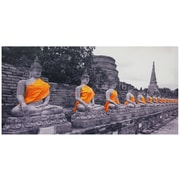Oriental Furniture Buddhas Photographic Print on Wrapped Canvas