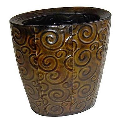 Cheungs Metal Vase w/ Swirl Design; 10.75'' H x 10.5'' W x 7'' D