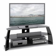 CorLiving™ Taylor TV Stand With Glass Shelves For 47 - 60 TVs, Glossy Black
