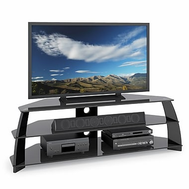 CorLiving™ Taylor Extra Wide TV Stand With Glass Shelves For 47