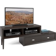 CorLiving™ Lakewood Two-Tiered Adjustable TV Bench For 50 TV, Espresso
