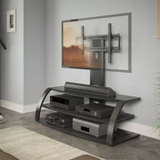 CorLiving™ Malibu TV Stand With Mount and Metal Uprights For 42 - 65 TVs, Black
