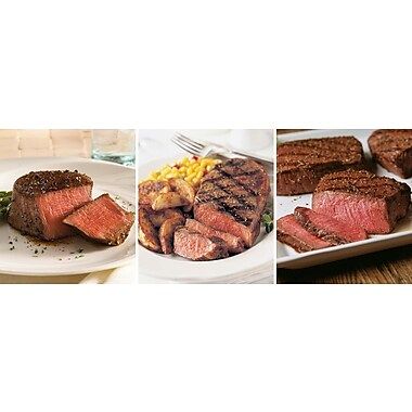The Triple Pleasure Omaha Steaks 4 Filet Mignons (6 Oz.) & 4 Boneless Strips (11 Oz.) & 4 Top Sirloins (8 Oz)