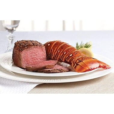 Surf & Turf Gala Omaha Steaks 4 Filet Mignons (6 Oz.), 4 Gourmet Lobster Tails (6 Oz.) & Lemon Parsley Butter Sauce (4 Oz.)