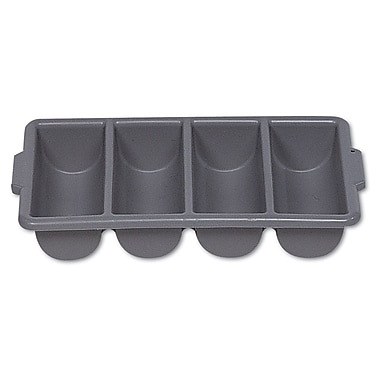 Plastic Polypropylene Cutlery Bin with 4 Compartments