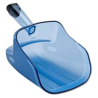 Polycarbonate Rubbermaid Commercial Hand-Guard Scoop Transparent Blue