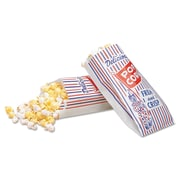"Lagasse Paper 8""H x 4""W x 1.5""D Popcorn Food Bags, White, 1000/Bags"