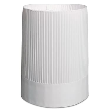 Stovepipe Style Fluted Paper Chef's Hats