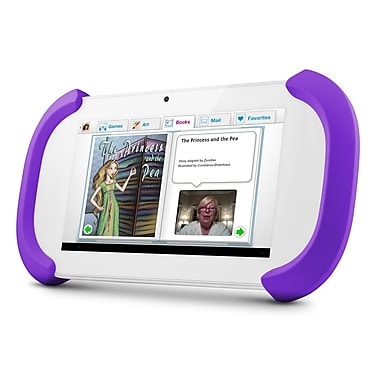 Ematic FTCV201 FunTab 2 7in. 8GB HD Android 4.2 Jelly Bean Kids Safe Tablet, White/Purple