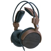 GOgroove AudioLUX WDX Walnut Wood Headphones with Auto-Adjusting Design and Removable Audio Cable