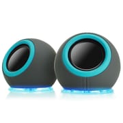 GOgroove SonaVERSE LYT Dual USB Powered 6W Portable Computer Speakers with Multicolor LED Base