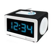 GOgroove SonaVERSE CLK 6 W Alarm Clock Speaker System, Black/White