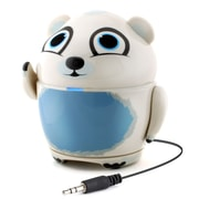 GOgroove Groove Pal Polar Bear Portable Rechargeable Speaker with Universal 3.5mm AUX Connection