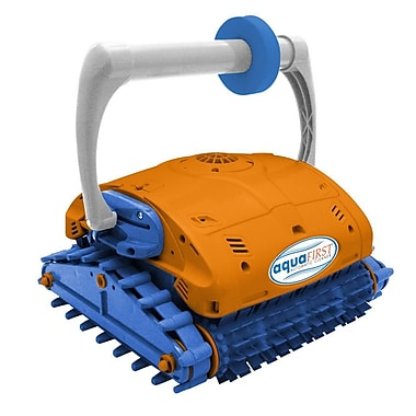 Blue Wave Aquafirst Premium Turbo Robotic Wall Climber Cleaner For In-Ground Pools, Orange/Blue