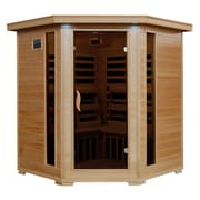 Radiant® 4-Person Hemlock Corner Infrared Sauna With 10 Carbon Heaters