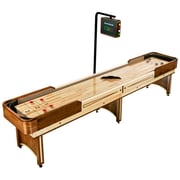 Hathaway™ Napa 12' Shuffleboard Table With Overhead Electronic Scoring, Woodgrain