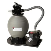 "Blue Wave 18"" Sand Filter System With 1 HP Pump, Gray/Black"